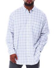 Button-downs - Plaid Stretch Poplin Long Sleeve Shirt (B&T)-2690330