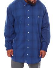 Button-downs - Woven Yarn Dye Plaid Long Sleeve Shirt (B&T)-2690358