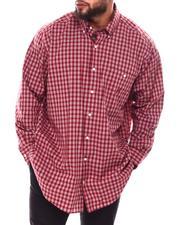 Button-downs - Woven Yarn Dye Plaid Long Sleeve Shirt (B&T)-2690319