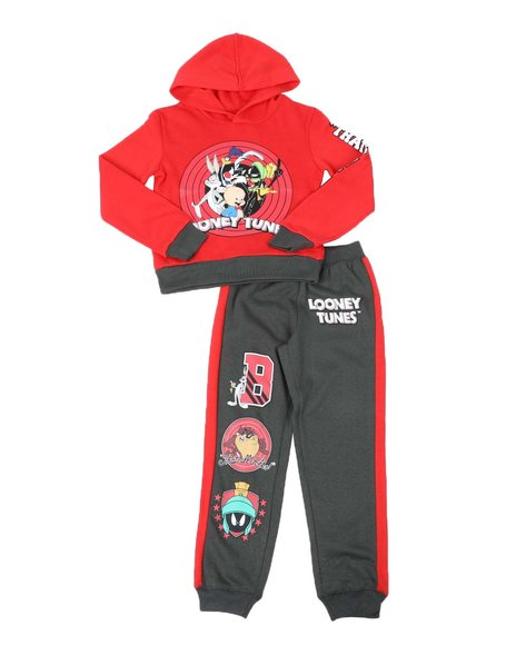 Arcade Styles - 2 Pc That's All Folks Two Tone Hoodie & Jogger Pants Set (8-20)