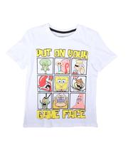 Arcade Styles - Game Face SpongeBob Tee (8-20)-2690767