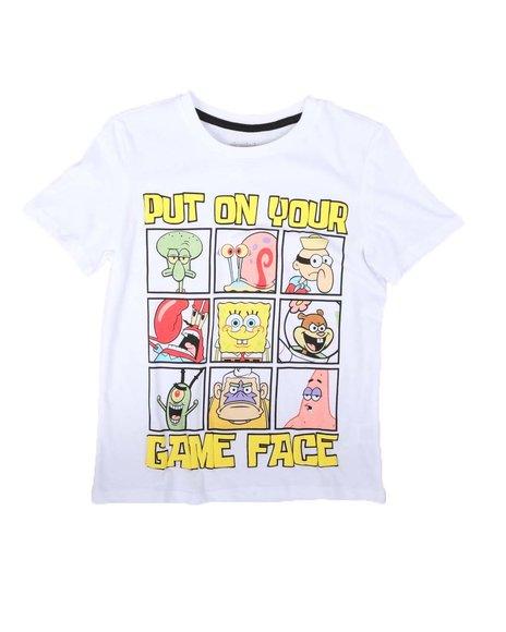 Arcade Styles - Game Face SpongeBob Tee (8-20)
