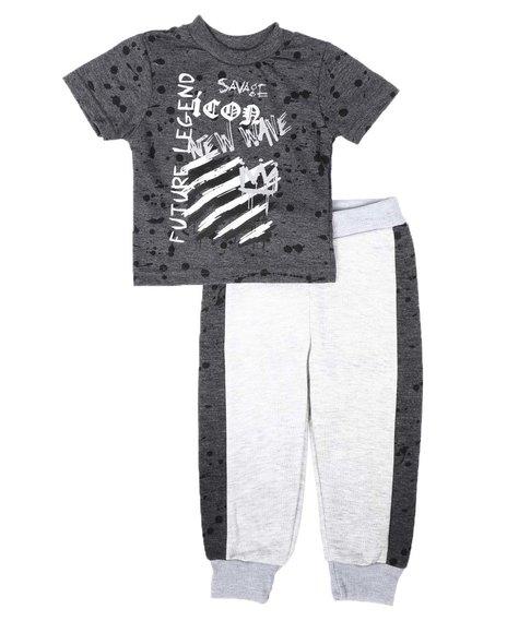 Arcade Styles - 2 Pc Future Legend Tee & Two Tone Jogger Pants Set (Infant)