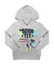 Born Fly - Splatter Graphic Pullover Hoodie (4-7)-2691134