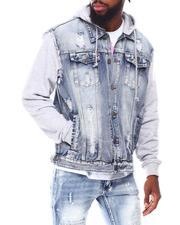Buyers Picks - Fleece Hood Denim Jacket-2691957