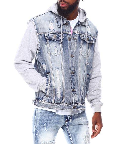 Buyers Picks - Fleece Hood Denim Jacket
