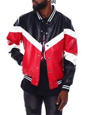 Buyers Picks - Soft PU Color block Varsity Jacket-2691890