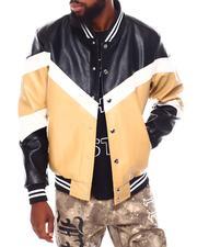 Buyers Picks - Soft PU Color block Varsity Jacket-2691897