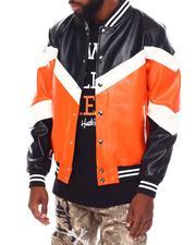 Buyers Picks - Soft PU Color block Varsity Jacket-2691903