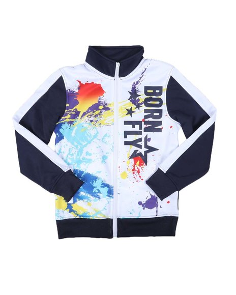 Born Fly - Blocked Print Tricot Track Jacket (8-20)