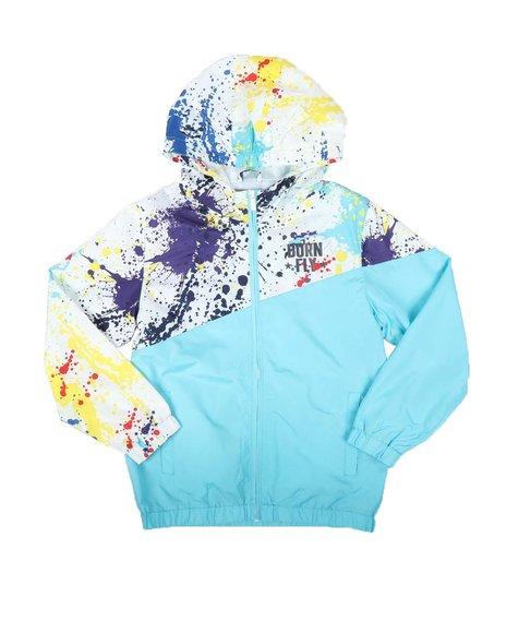 Born Fly - Splatter Blocked Print Nylon Jacket (8-20)