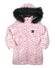 Calvin Klein - Gloss Print Hooded Puffer Jacket (4-6X)-2692037