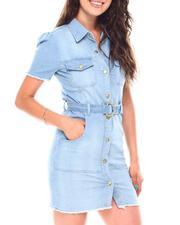 Dresses - Short Sleeve Belted Dress-2692115