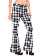 Pants - Plaid Wide Leg Pants-2692125