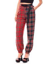 Fall-Winter - Color Block W/Plaid Print Pants-2692134