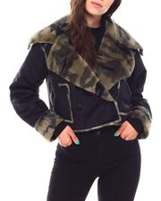 Fall-Winter - NVLT Reversible Camo Faux Fur Bonded To Suede Jacket-2692794