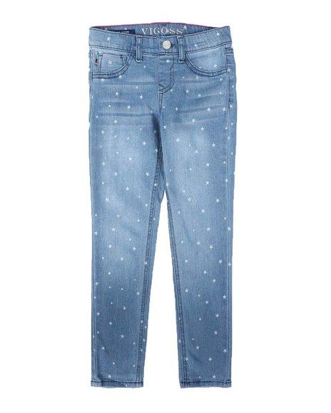Vigoss Jeans - Pull-On Star Print Skinny Jeans (7-14)