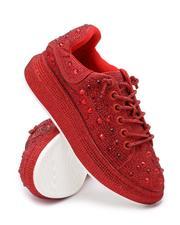 Footwear - Rhinestone Platform Sneakers-2692501