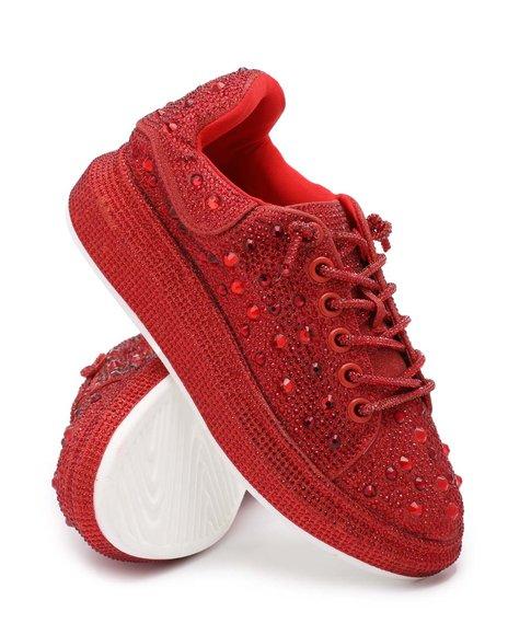 Azalea Wang - Rhinestone Platform Sneakers