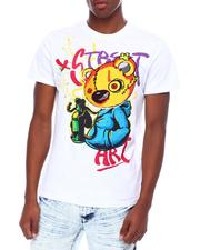SWITCH - Street art bear- embrod. Chenille patch Tee-2693412