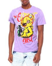SWITCH - Street art bear- embrod. Chenille patch Tee-2693424
