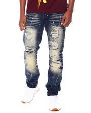 Jeans & Pants - MOTO & STITCH DETAIL DENIM PANTS W/ PAINT SPLASH-2693447