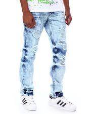 Jeans & Pants - MOTO & STITCH DETAIL DENIM PANTS W/ PAINT SPLASH-2693465