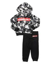 Members Only - 2 Pc Camo Logo Hoodie & Jogger Pants Set (2T-4T)-2693745