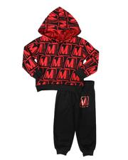 Members Only - 2 Pc All Over Print Hoodie & Logo Jogger Pants Set (2T-4T)-2693753