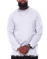 T-Shirts - Camo Insert Long Sleeve Crewneck T-Shirt (B&T)-2694014
