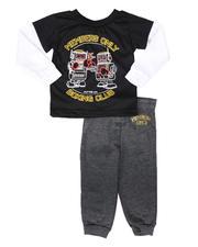 Boys - 2 Pc Boxing Club 2Fer Long Sleeve T-Shirt & Jogger Pants Set (4-7)-2694442