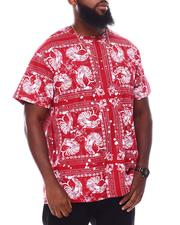 Hustle Gang - Horoz All Over Print Knit T-Shirt (B&T)-2692296