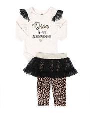 La Galleria - 2 Pc Bodysuit and Tutu Skirted Pants Set (Infant)-2694464