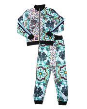 Boys - 2 Pc Printed Zip Up Jacket & Jogger Pants Set (8-18)-2694211