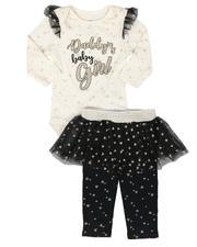 La Galleria - 2 Pc Bodysuit and Tutu Skirted Pants Set (Infant)-2694472