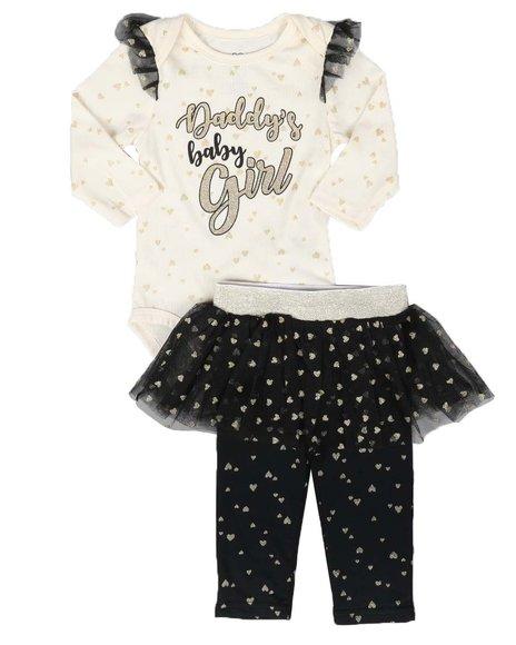 La Galleria - 2 Pc Bodysuit and Tutu Skirted Pants Set (Infant)