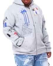 Men - Graffiti Zip Up Hoodie (B&T)-2692749