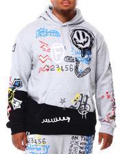 Men - Graffiti Pullover Hoodie (B&T)-2692816