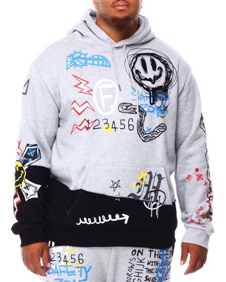 SMOKE RISE - Graffiti Pullover Hoodie (B&T)
