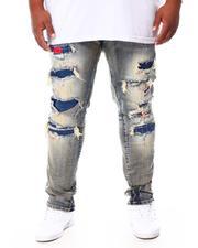 Men - Distressed Slim Tapered Denim Jeans (B&T)-2692863
