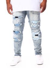 Men - Distressed Slim Tapered Denim Jeans (B&T)-2692878
