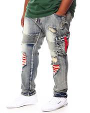 Men - Shredded Denim Jeans (B&T)-2694326