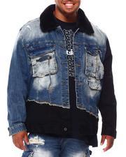 SMOKE RISE - Utility Fashion Denim Jacket (B&T)-2695691