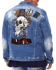Outerwear - Doodle Rocker Patch Denim Jacket (B&T)-2692774