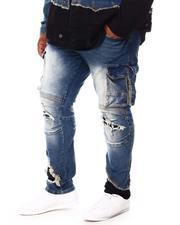 SMOKE RISE - Utility Slim Tapered Denim Jeans (B&T)-2695496