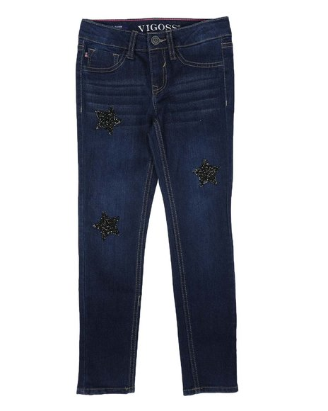 Vigoss Jeans - Black Caviar Star Jeans (7-14)