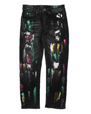 Boys - Multi Paint Splatter Jeans (8-18)-2695905