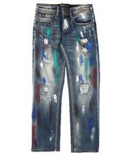 Boys - Multi Paint Splatter Jeans (8-18)-2695912