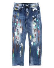 Boys - Multi Paint Splatter Jeans (8-18)-2695919