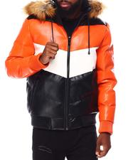 Leather Jackets - Chevron PU Heavy Weight Jacket-2695761